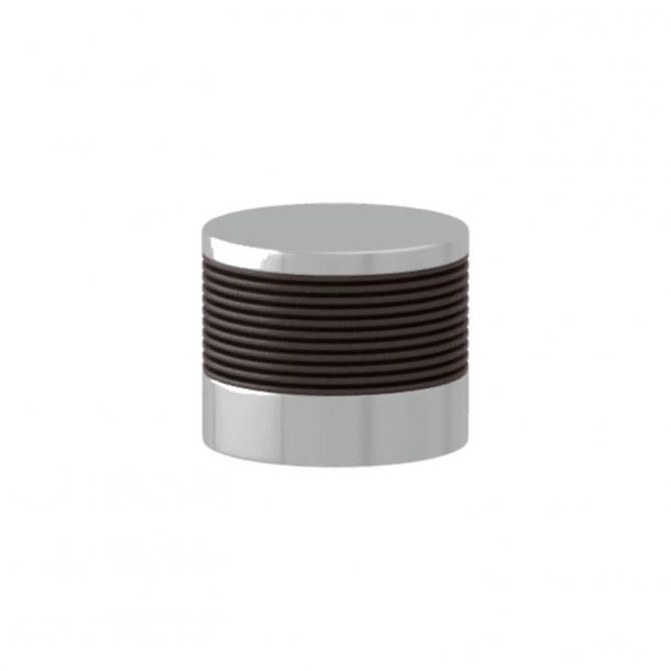 Turnstyle Designs Cabinet knob - Cocoa Amalfine / Bright chrome - Model P8755