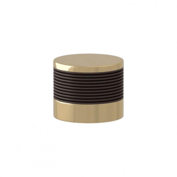 Turnstyle Designs Cabinet knob - Cocoa Amalfine / Polished brass - Model P8755
