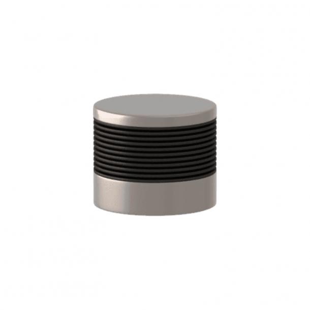 Turnstyle Designs Cabinet knob - Black bronze Amalfine / Satin nickel - Model P8755