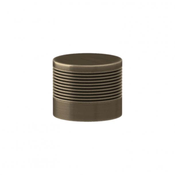 Turnstyle Designs Cabinet knob - Silver bronze Amalfine / Antique brass - Model P8755