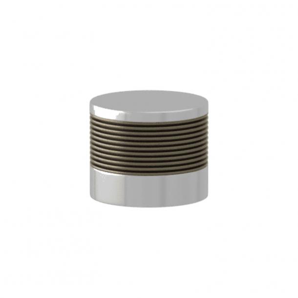 Turnstyle Designs Möbelknopp - Silverbrons Amalfine / Glansigt krom - Model P8755
