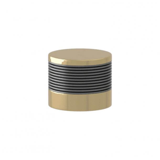 Turnstyle Designs Cabinet knob - Alupewt Amalfine / Polished brass - Model P8755
