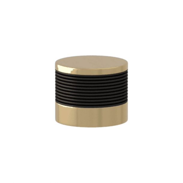 Turnstyle Designs Møbelknop - Sort bronze Amalfine / Poleret messing - Model P8755