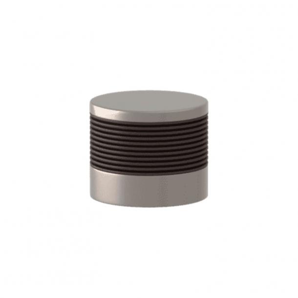 Turnstyle Designs Cabinet knob - Cocoa Amalfine / Satin nickel - Model P8755