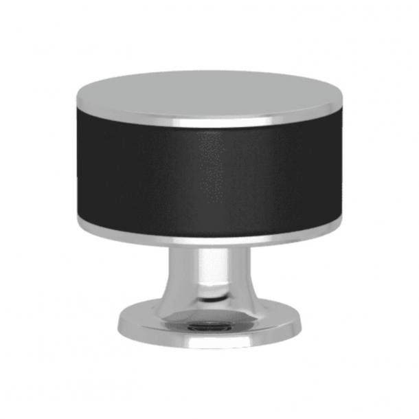 Uchwyt - Turnstyle Designs - Czarna skóra / Błyszczący chrom - Model R5065