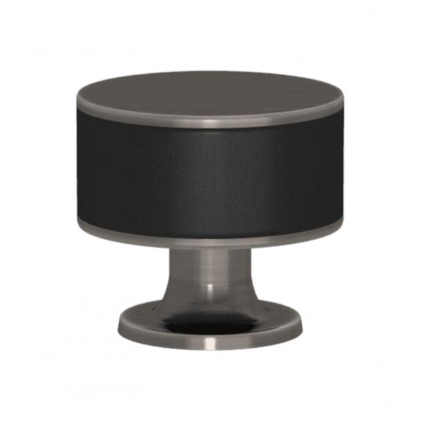 Uchwyt - Turnstyle Designs - Czarna skóra / Nikiel postarzany - Model R5065