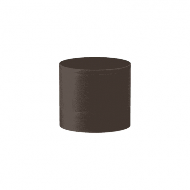 Turnstyle Designs Cabinet knob - Chocolate leather / Vintage patina - Model R9202