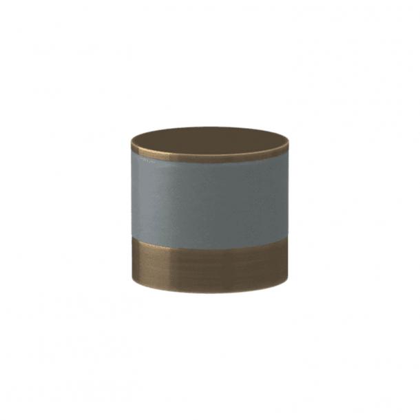 Uchwyt - Turnstyle Designs - Szara skóra / Antyczny mosiądz - Model R9202