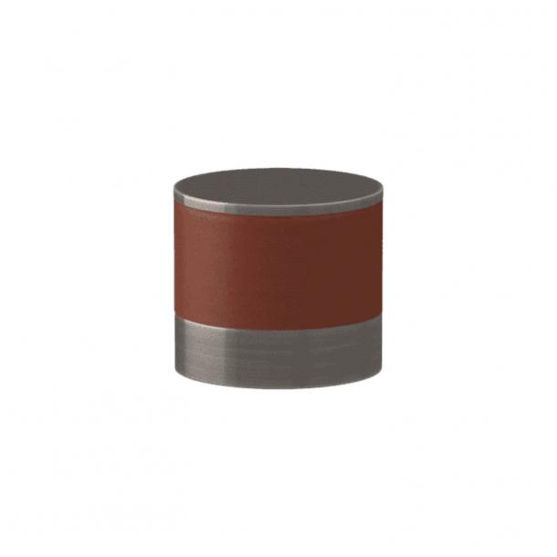 Uchwyt - Turnstyle Designs - Skóra w kolorze kasztanowym / Nikiel postarzany - Model R9202