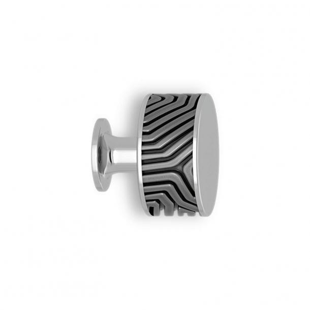 Cabinet knob - Alupewt / chrome - Labyrinth - Model b9322