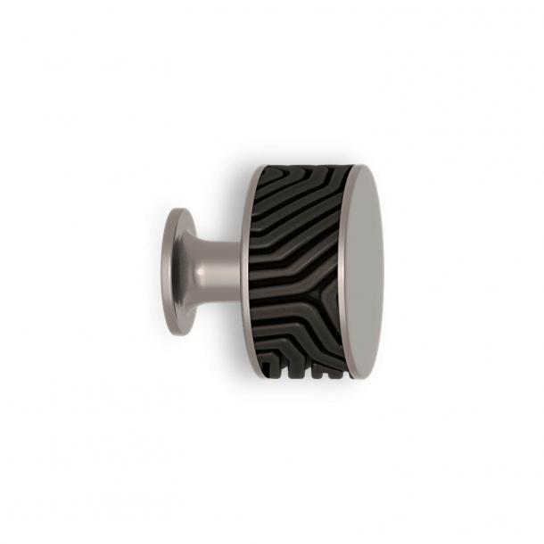 Cabinet knob - Black bronze / Satin nickel - Labyrinth - Model b9322