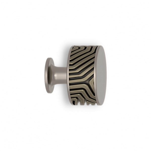 Gałka - Srebrny brąz / nikiel satynowy - Labirynt - Model B9322