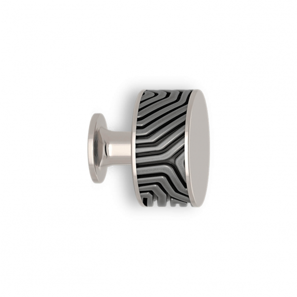 Cabinet knob - Alupewt / Polished nickel - Labyrinth - Model b9322