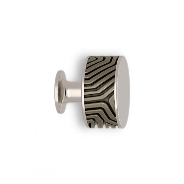 Gałka - Srebrny brąz / Polerowany nikiel - Labirynt - Model B9322