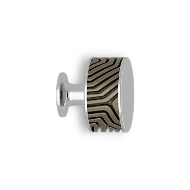 Uchwyt - Srebrny brąz / Chrom - Labirynt - Model B9322