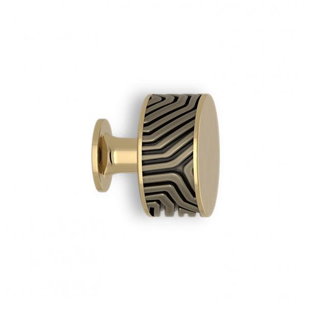 Gałka - Srebrny brąz / Polerowany mosiądz - Labirynt - Model B9322