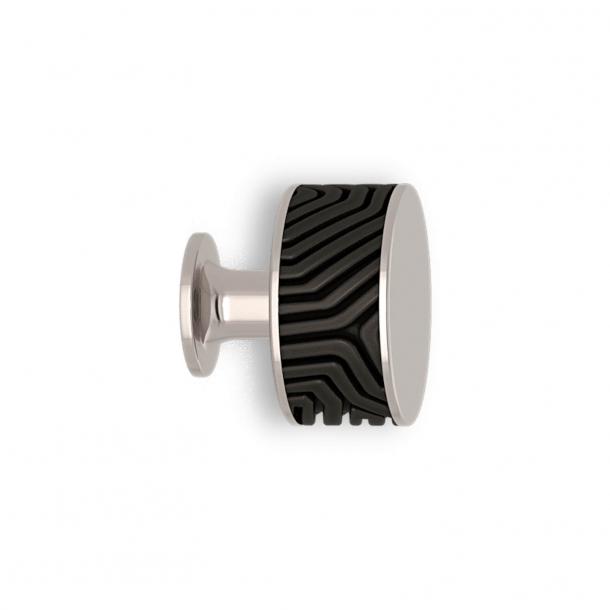Møbelknop - Sort bronze / Poleret nikkel - Labyrinth - Model b9322
