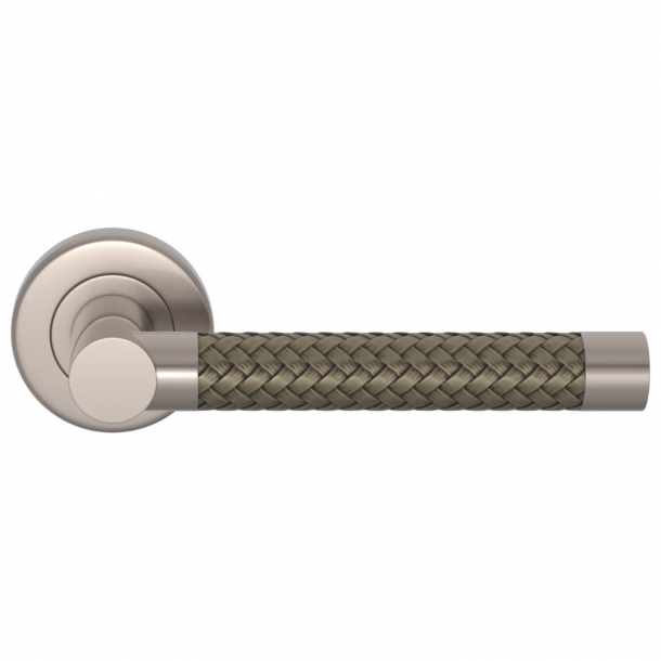 Turnstyle Design Door Handle - Silver bronze Amalfine / Satin nikkel - Model R2076