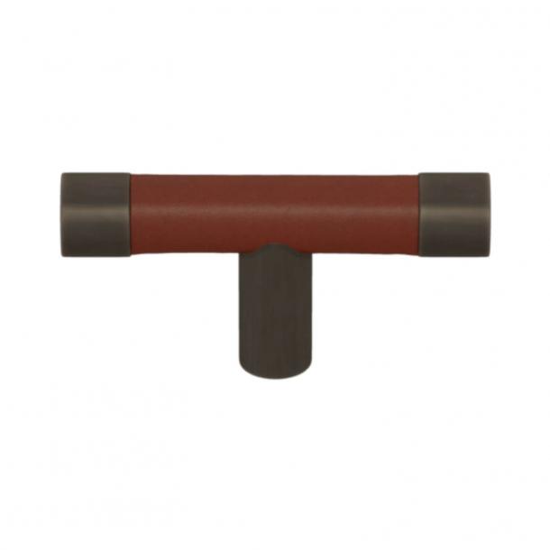 Turnstyle Design T-bar - Chestnut leather / Vintage patina - Model R1198