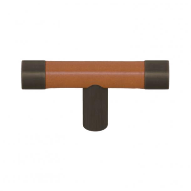 Turnstyle Design T-bar - Solbrunt læder / Vintage patina - Model R1198