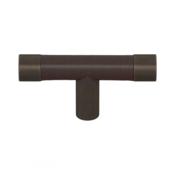 Turnstyle Design T-bar - Chokoladefarvet læder / Vintage patina - Model R1198