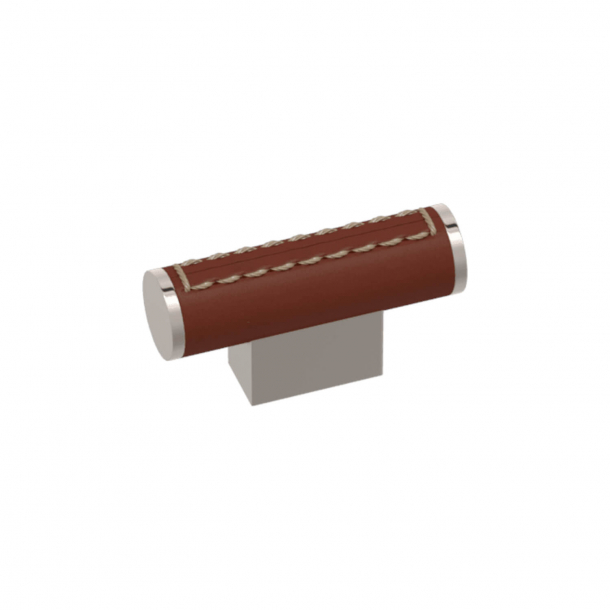 Turnstyle Designs T-bar - Chestnut leather / Polished nickel - Model R4150
