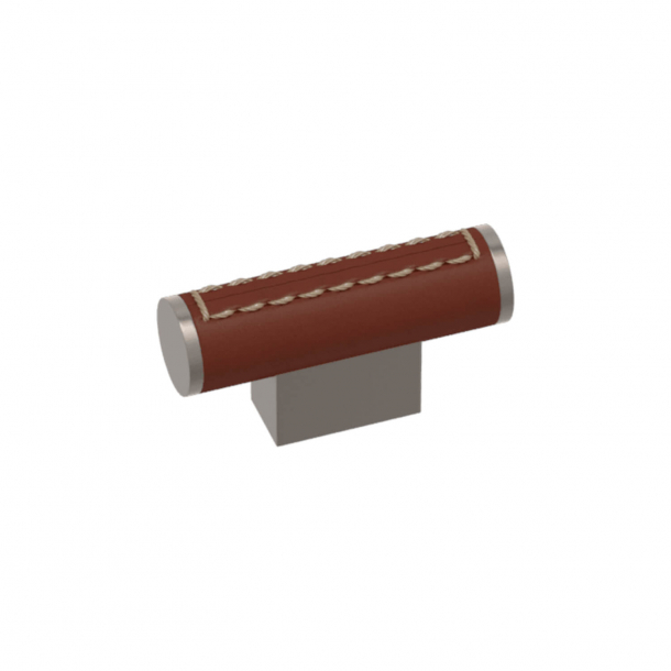Turnstyle Designs T-bar - Chestnut leather / Satin nickel - Model R4150