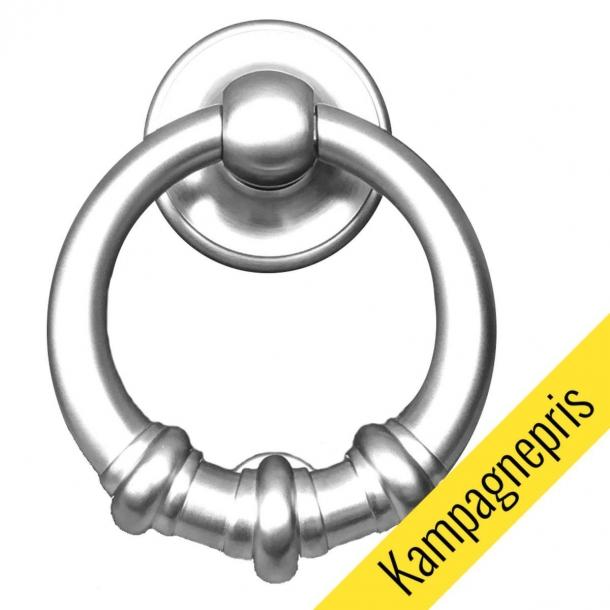 Dørhammer ring 699, krom satin (125 mm) - TILBUD