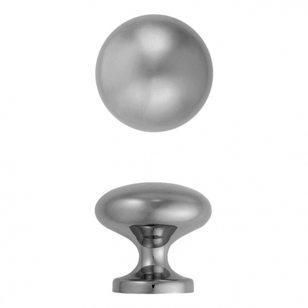 Centre door knob, Model 181-70, Chrome - 73 mm