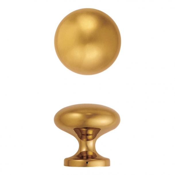 Centre door knob, Model 181-70, Brass - 73 mm