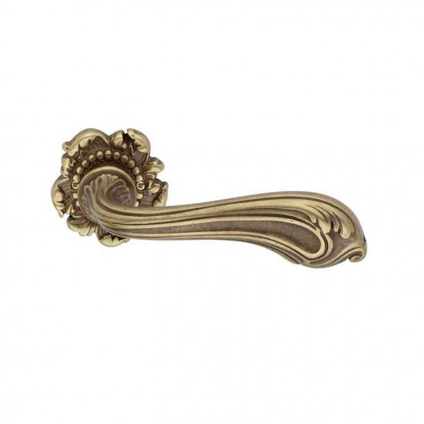 Door handle H120 Luigi XV, Interior, Antique Brass