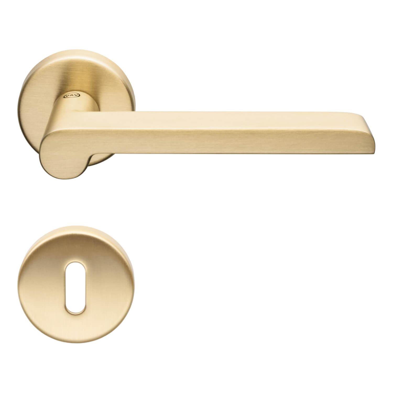 Door Handle H1054 W W Interior Satin Brass Brass Door