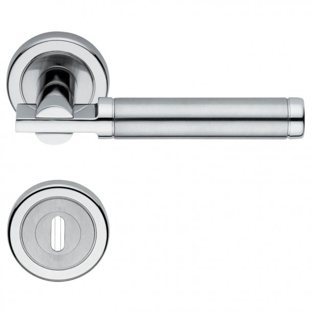 Door handle with Privacy Lock - H4742 Coral - Interior - Stainless Steel