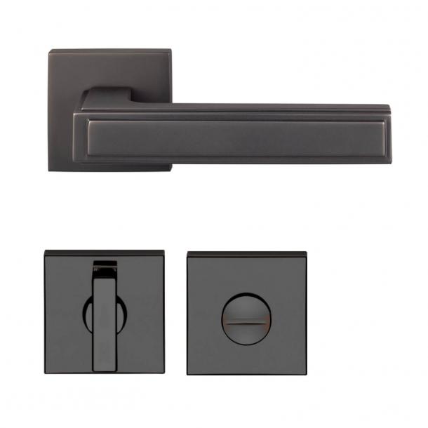 Door handle - Nickel black - Privacy lock - Model H1056 Quadra