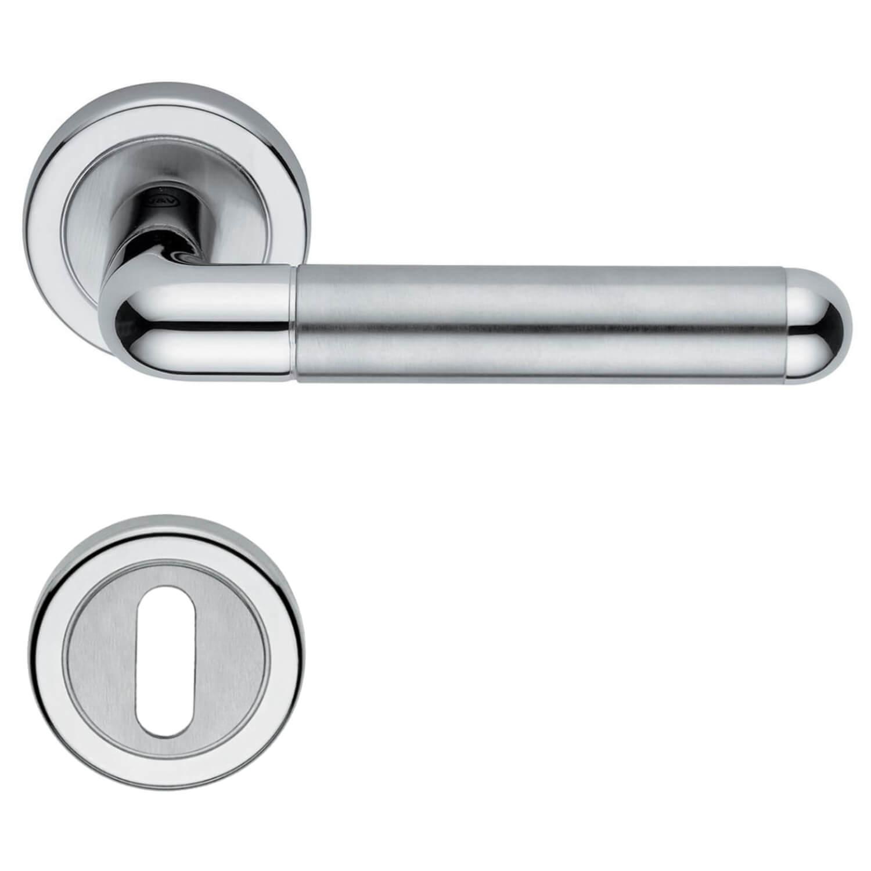 Door Handle H4705 Rhodamine Interior Stainless Steel Brushed Steel Door Handle