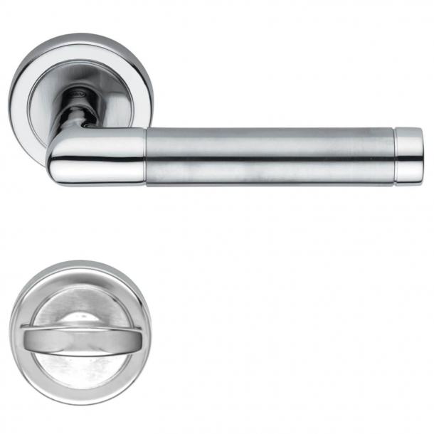 Door handle, Privacy lock, Satin chrome, Model H4730