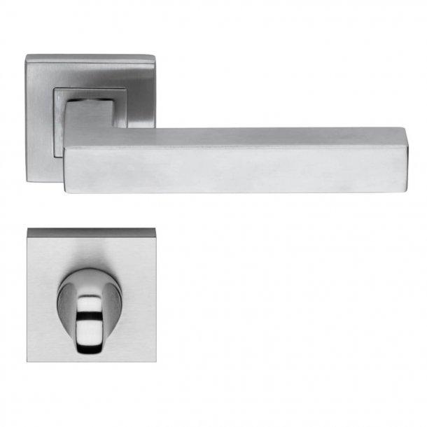 Door handle H419 Bordeaux - Privacy lock - Stainless Steel