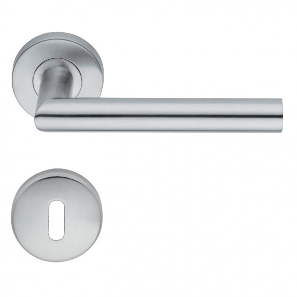 Door handle - Escutcheon - Interior - H416.R8.Satinato - Stainless Steel