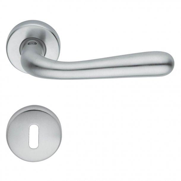 Door handle H44 Pink, Interior, Satin chrome