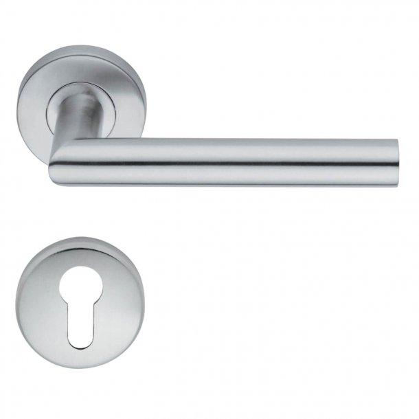 Türgriffe - Profilzylinder - Interieurraum - H416 Garnet - Edelstahl