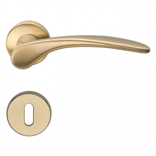 Door handle H198 Mizar, Interior, Satin Brass