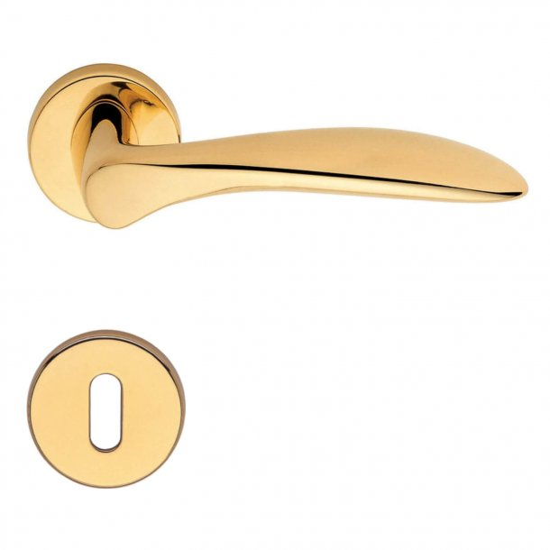 Door handle H1016 Nabucco, Interior, Polished Brass