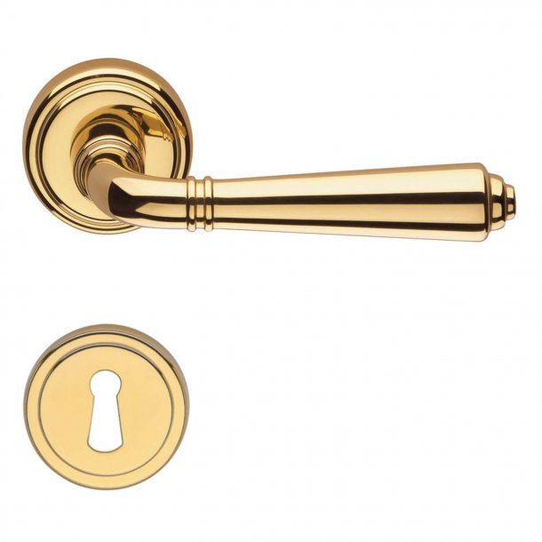 Door handle H1037 Teseo, Interior, Brass