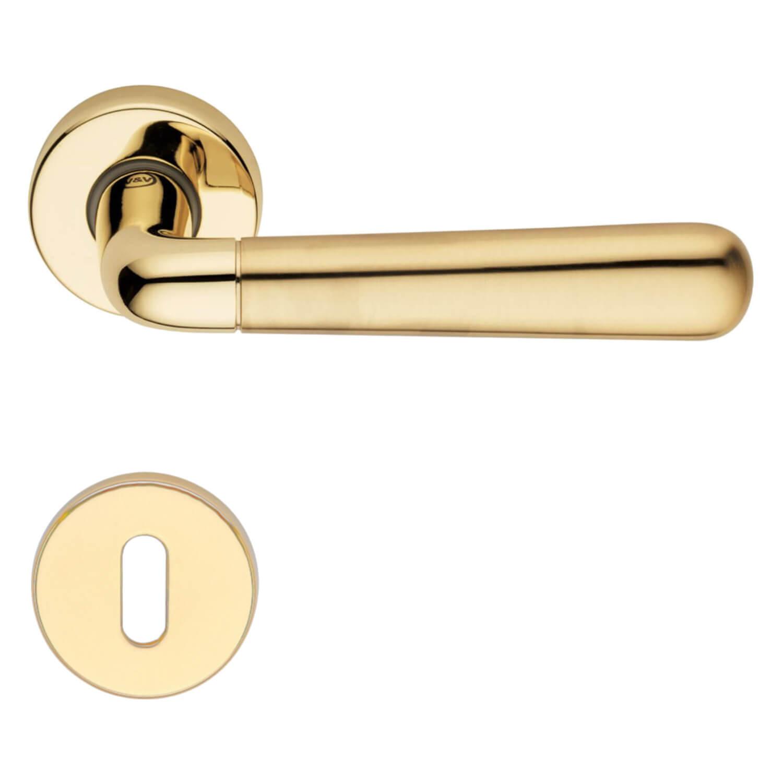 Door Handle H417 Indigo Interior Polished Satin Brass