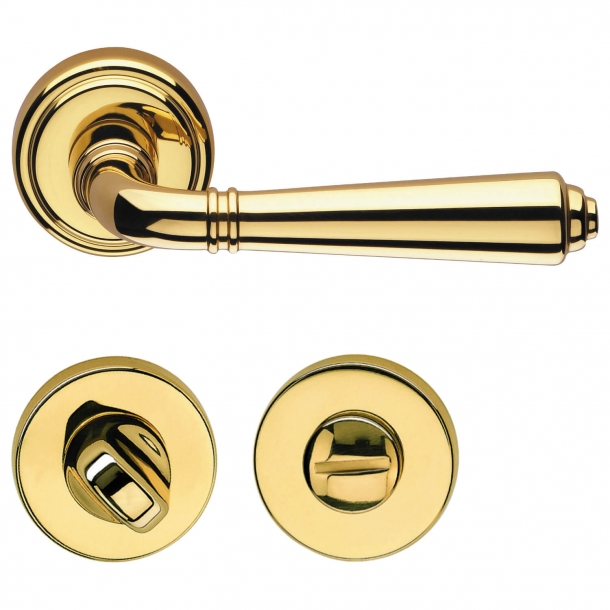 Door handle brass indoor - WC lock - H1037 Teseo