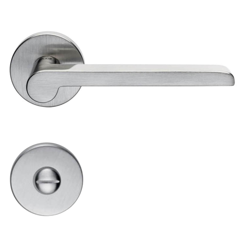 Door Handle H1054 W W Interior Satin Nickel Privacy