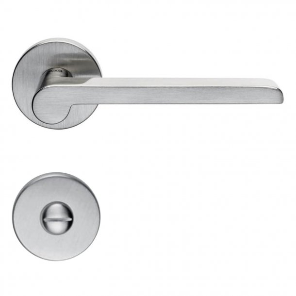 Door handle H1054 W.W., Interior, Satin Nickel, Privacy lock