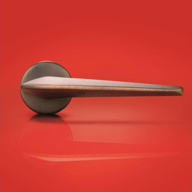 Door handle h1052 supersonic interior satin bronze for Door handle company