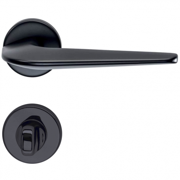 Door handle - Black - H1052 Supersonic, Privacy lock