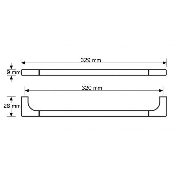 Cabinet handle, Satin Nickel, 320 mm, Model A 2041